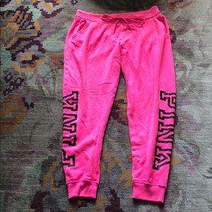 PINK Hot Pink Sweat pants